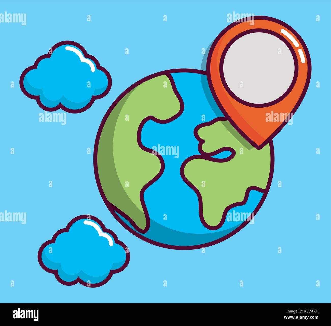 navigation and location design - Stock Image