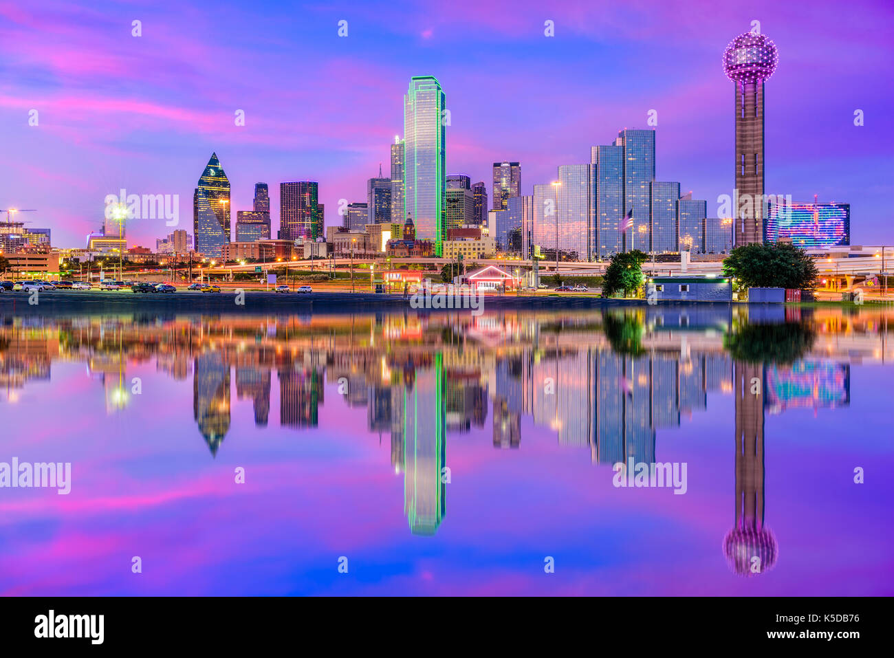 Dallas, Texas, USA downtown city skyline. - Stock Image