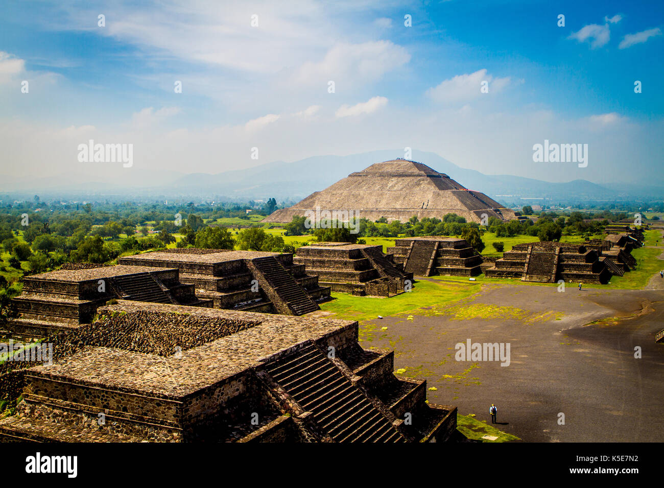 Pyramid of the Sun, Teotihuacan, Mexico - Stock Image