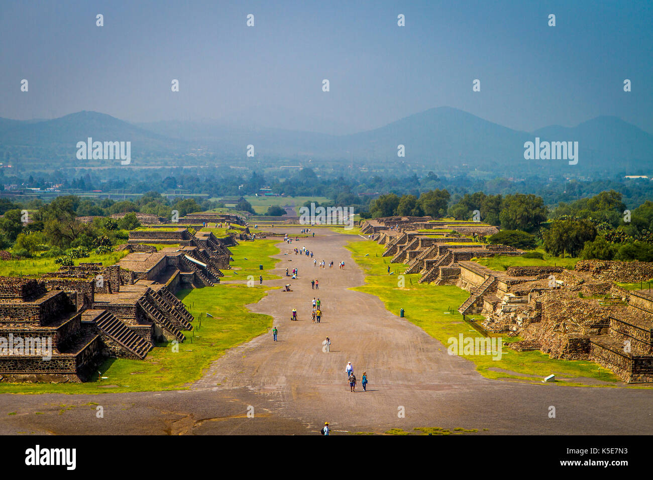 Avenue of the Dead, Teotihuacan, Mexico - Stock Image