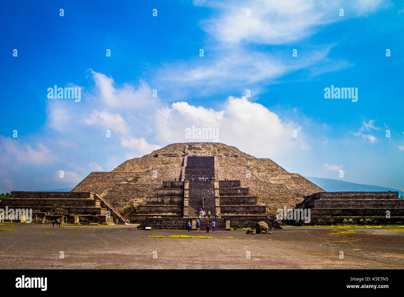 Pyramid of the Moon, Teotihuacan, Mexico - Stock Image