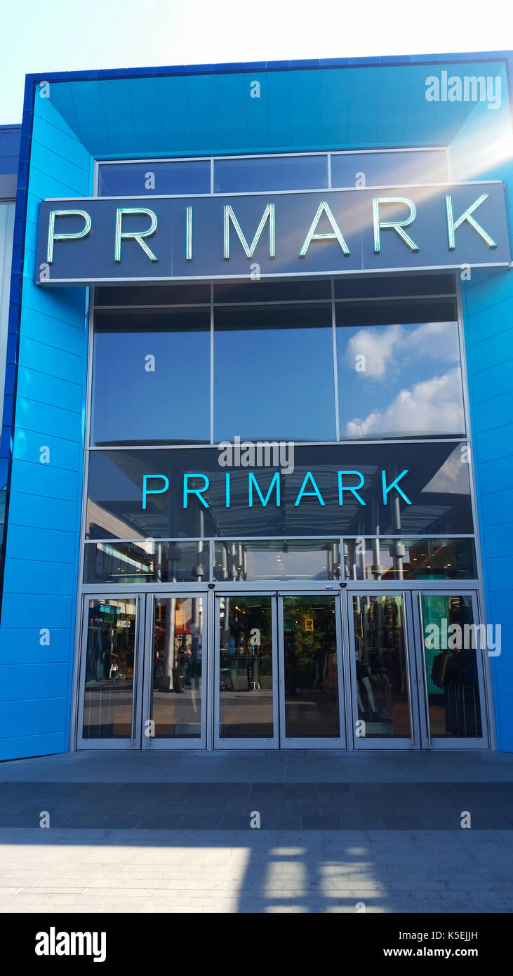 Cagnes-sur-Mer, France - September 25, 2016: Entrance of Primark Store in the City Center of Cagnes-sur-Mer (French Riviera) - Stock Image