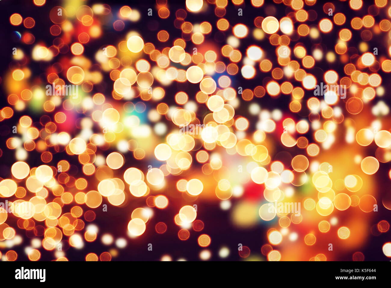 Festive Background With Natural Bokeh And Bright Golden Lights Vintage Magic Colorful Spring Summer Christmas New Year Disco P