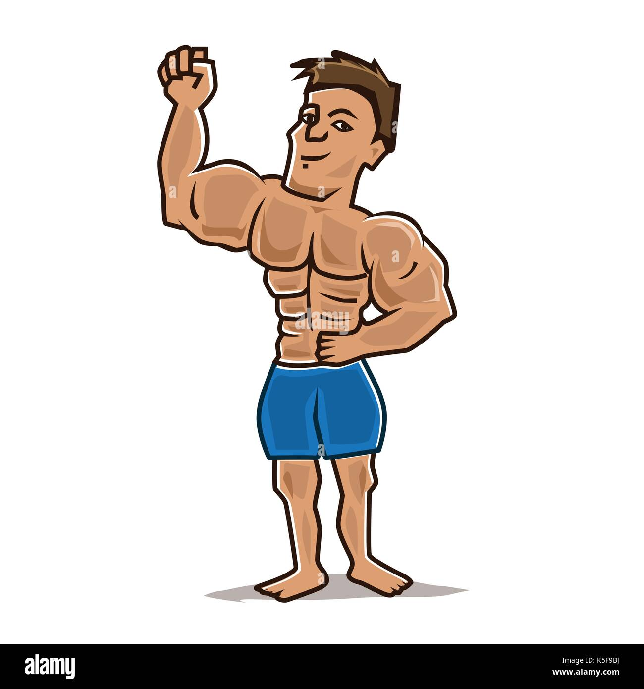 Cartoon bodybuilder stock photos cartoon bodybuilder - Cartoon body builder ...