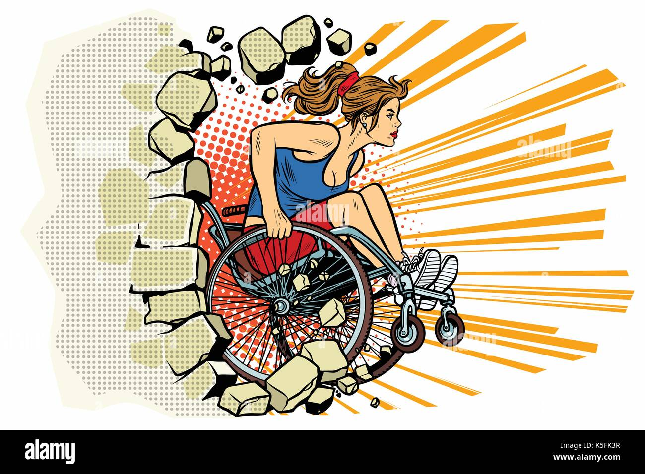 Disabled Athlete Stock Vector Images - Alamy