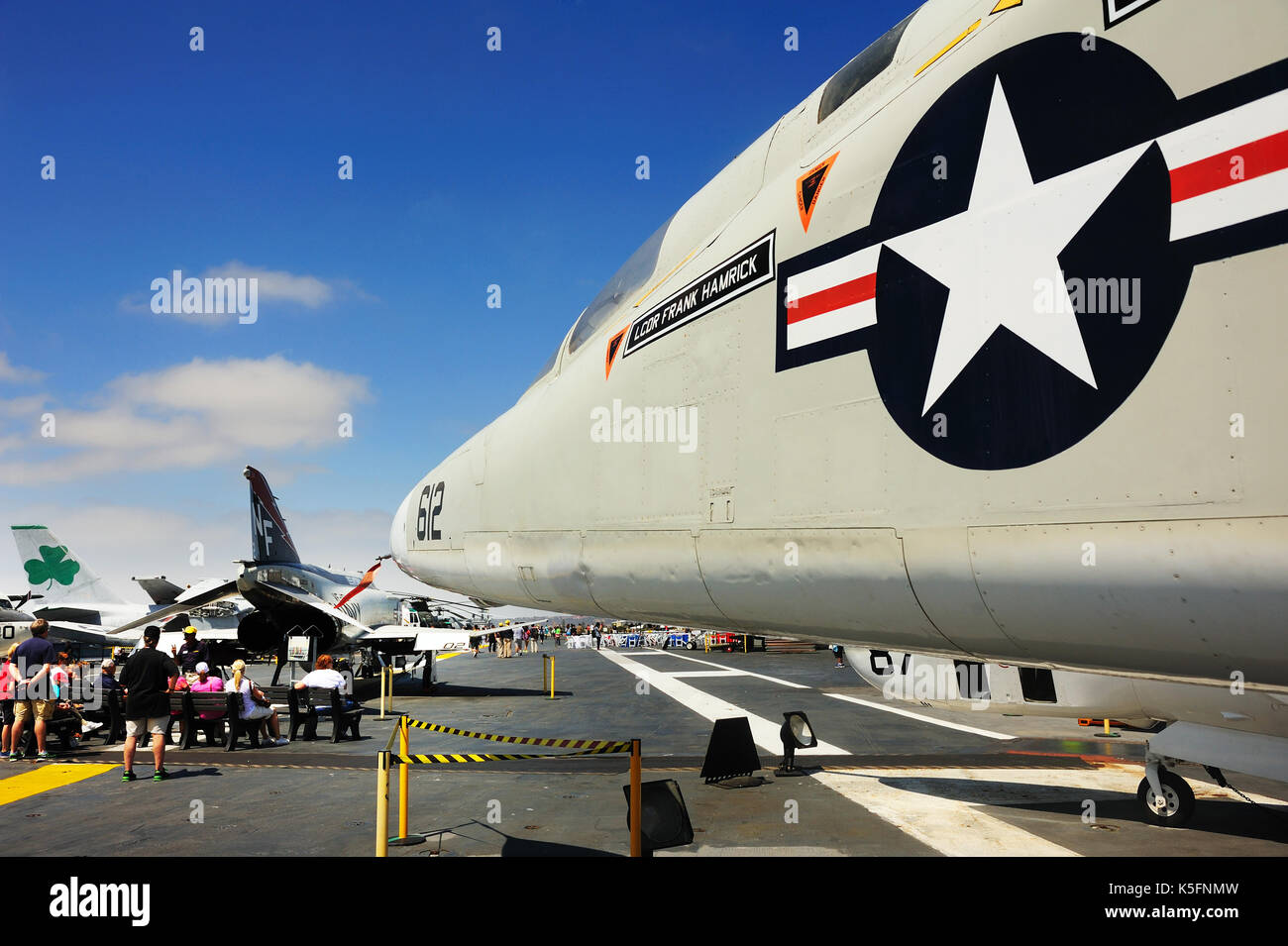 SAN DIEGO,USA - July 30 2013: The Aircraft carrier Midway as a museum of US navy at San Diego, California, USA. Stock Photo