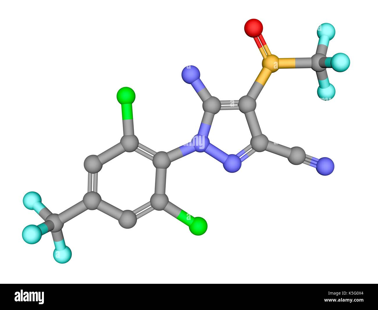 Fipronil insecticide ball and stick molecular model atoms are fipronil insecticide ball and stick molecular model atoms are represented as spheres with colour coding carbon grey oxygen red nitrogen blue ccuart Choice Image