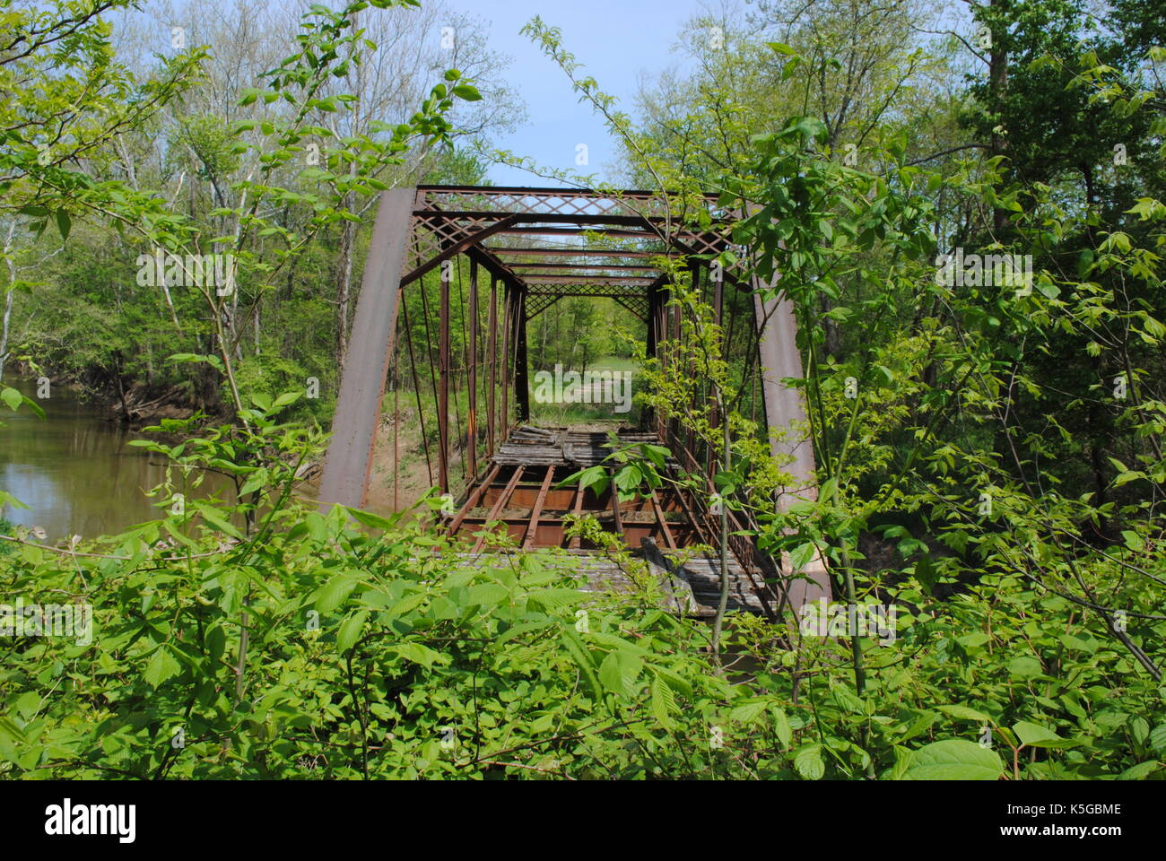 Iron bridge - Stock Image