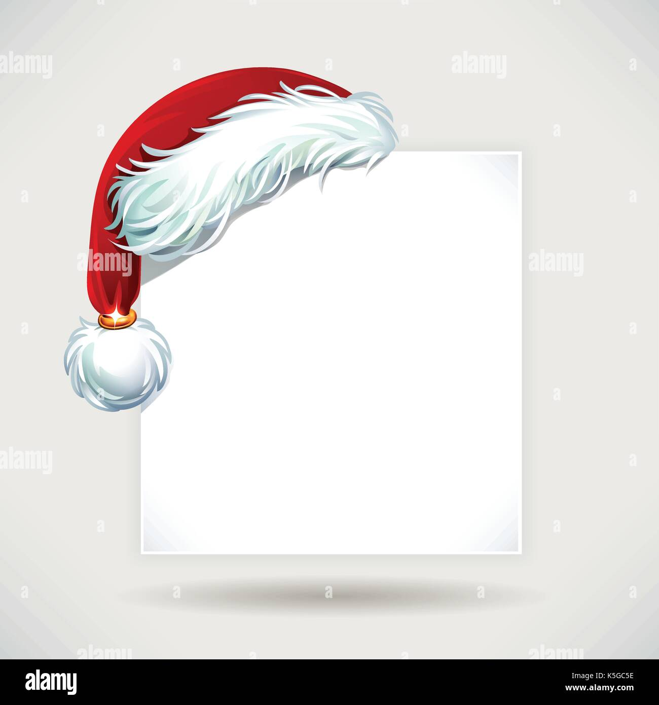 vector vintage christmas wish list letter design with cartoon santa claus hat illustration copy empty space