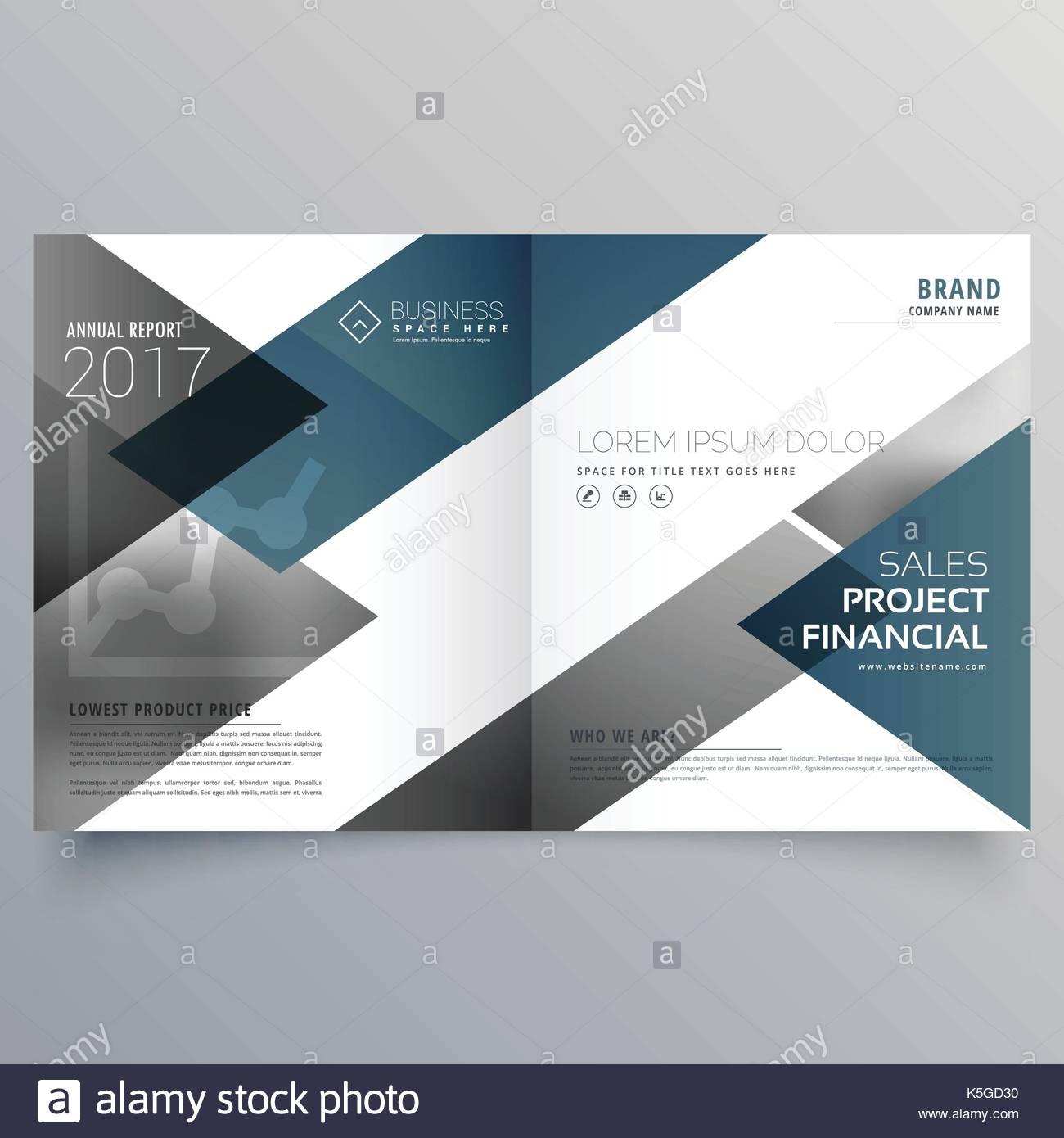 Business Bifold Brochure Flyer Leaflet Magazine Cover Page