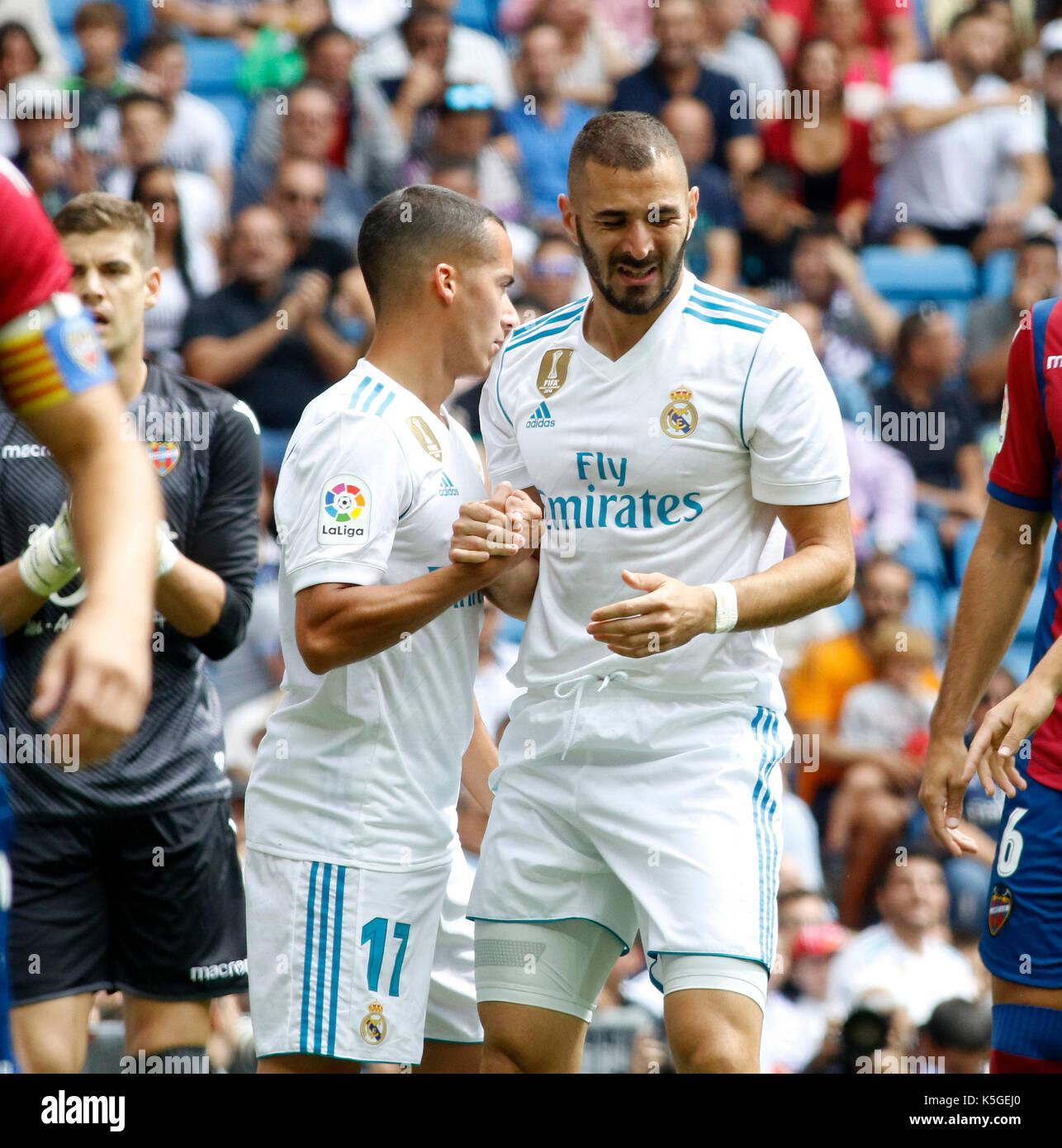 e6bdb40c1 09 Karim Benzema (Real Madrid) during the Spanish La Liga soccer match  between Real Madrid and Levante at the Santiago Bernabeu stadium in Madrid