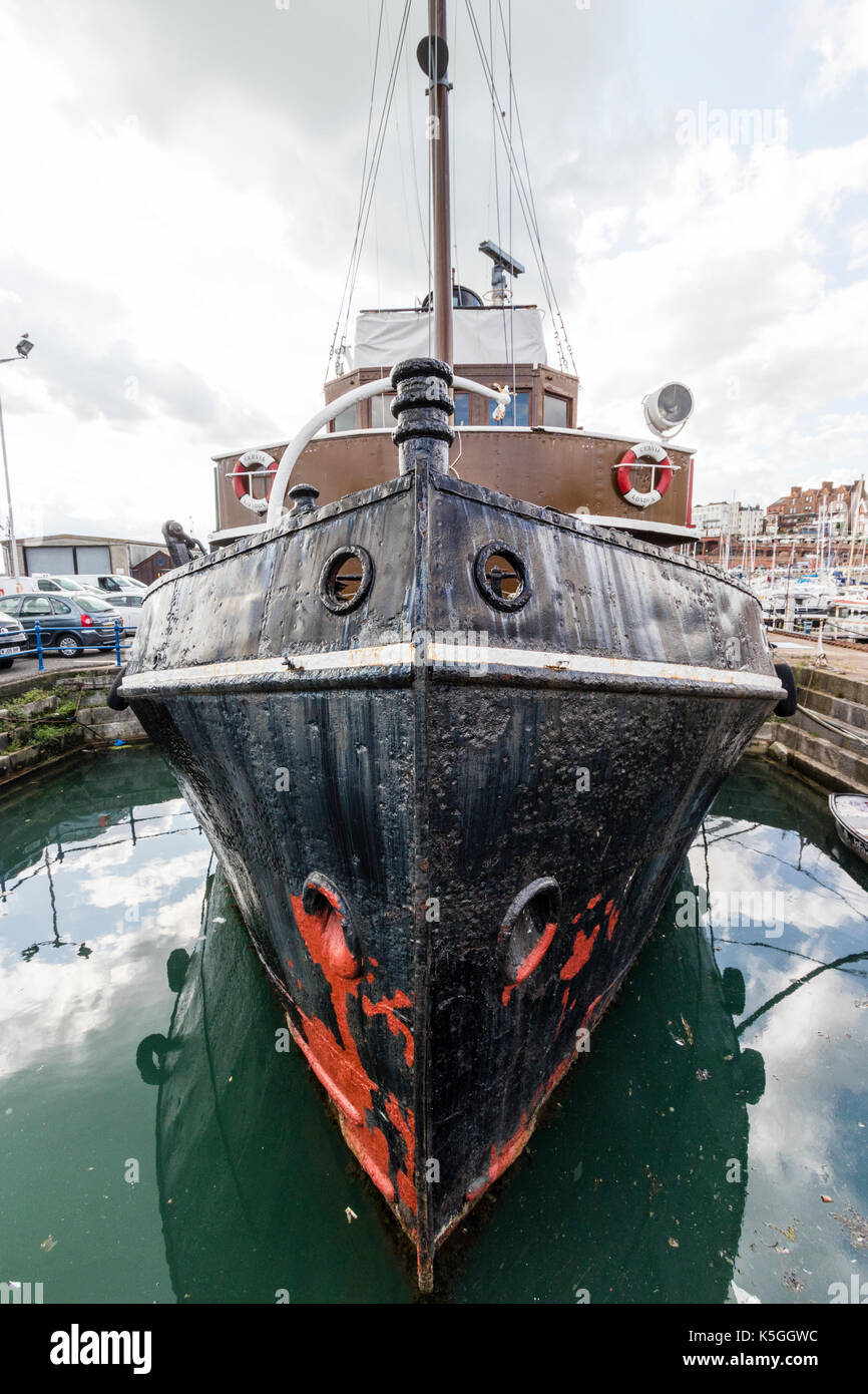 320 Ton Restored 1940s Stream Tugboat Cervia Moored At Ramsgate