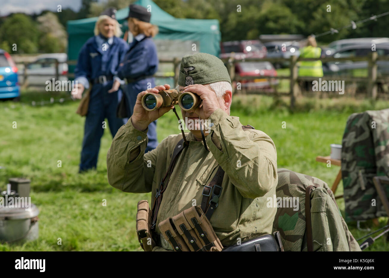 Stoke Bruerne's village at war weekend,re-enactors from all over the UK enjoy a weekend of vintage fun. Credit: Scott Carruthers/Alamy Live News - Stock Image