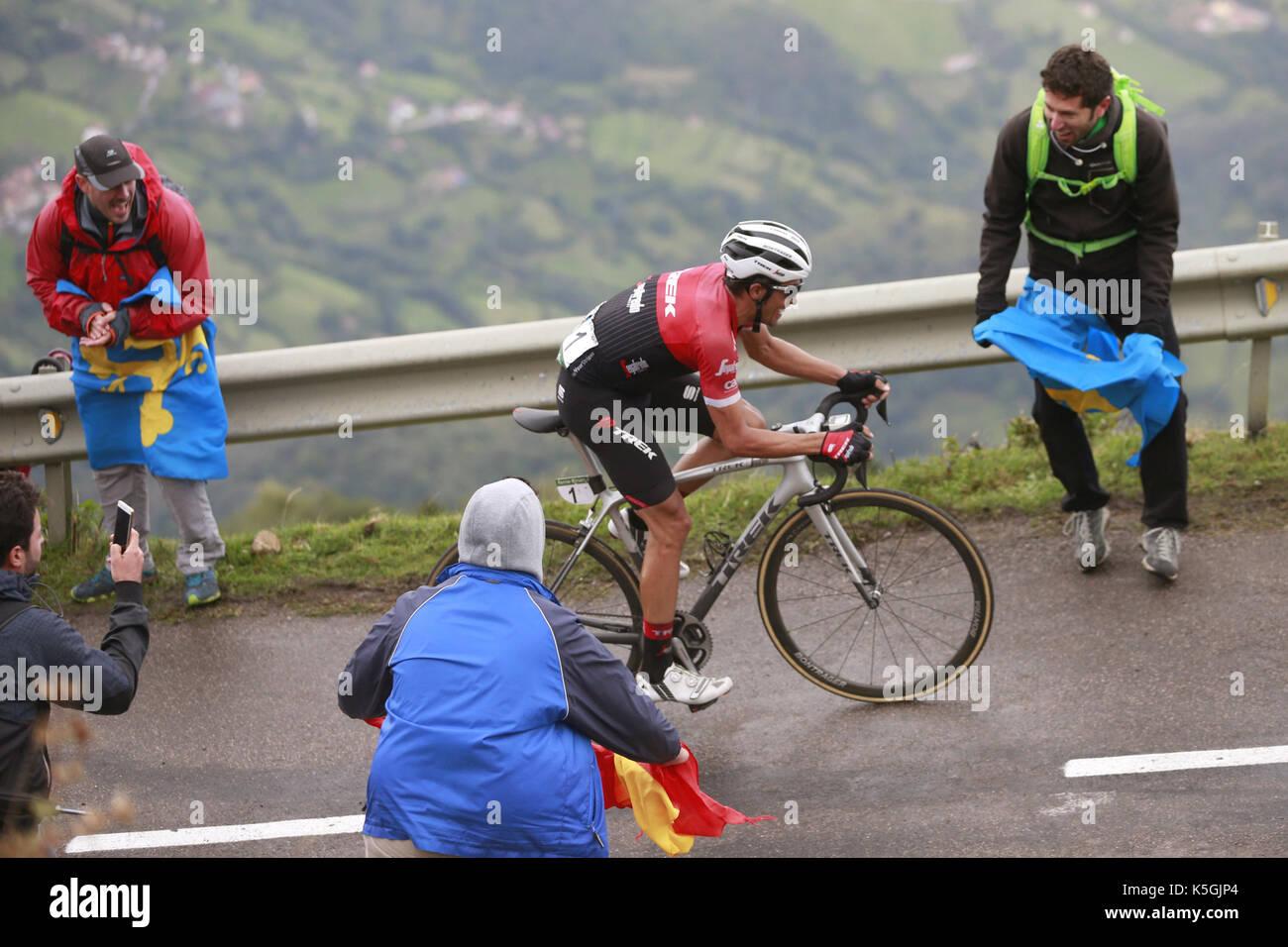 024295a74a1 Asturias, Spain, 09 September 2017. Spanish cyclist Alberto Contador,  winner of the