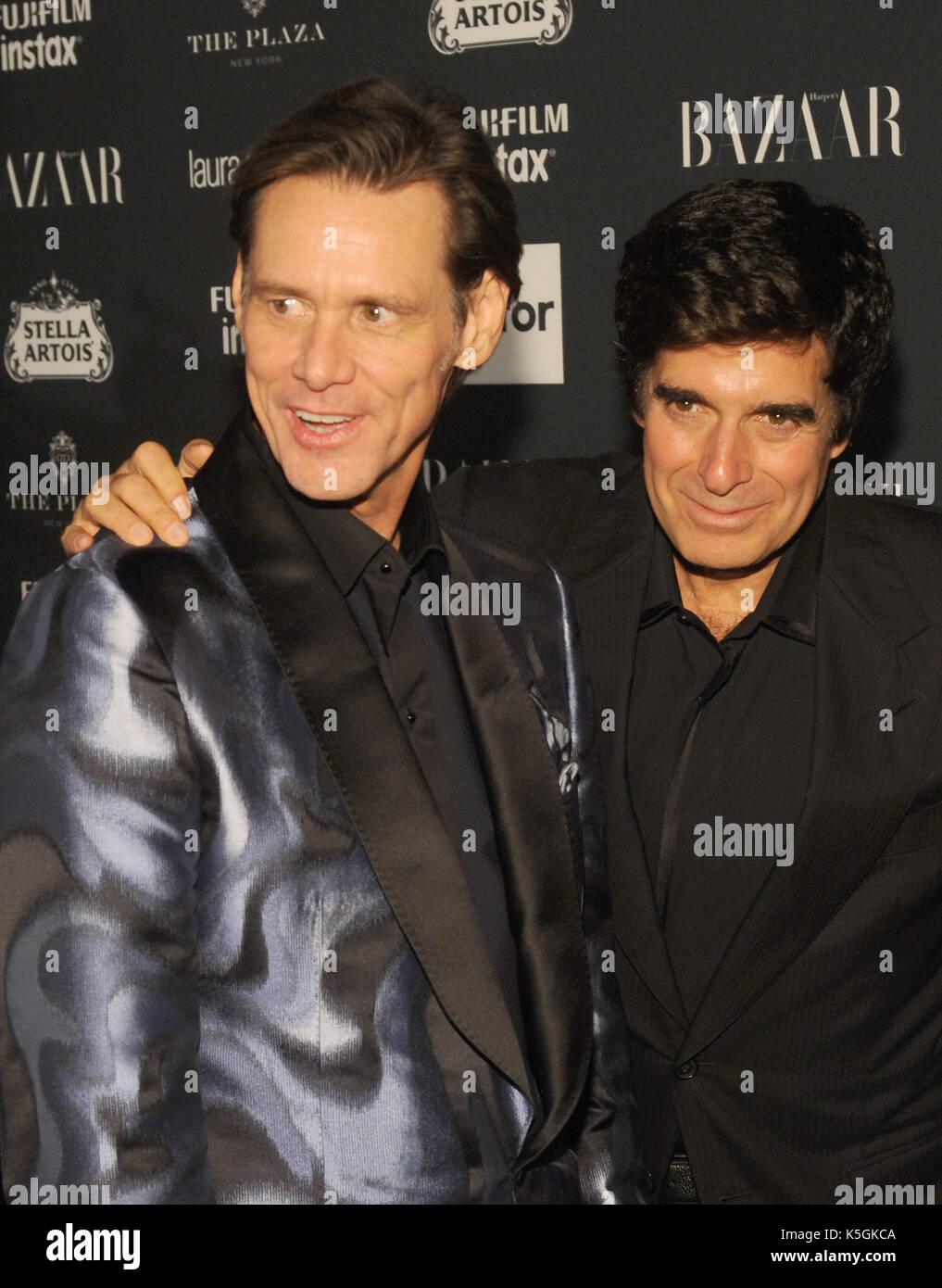 New York, NY, USA. 08th Sep, 2017. Jim Carrey and David Copperfield ...