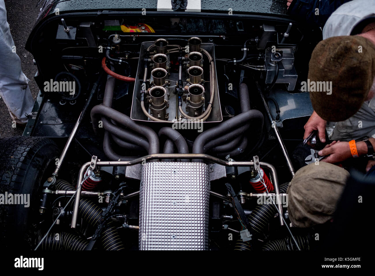Chichester West Sus Uk Th September  Ford Gt Engine During