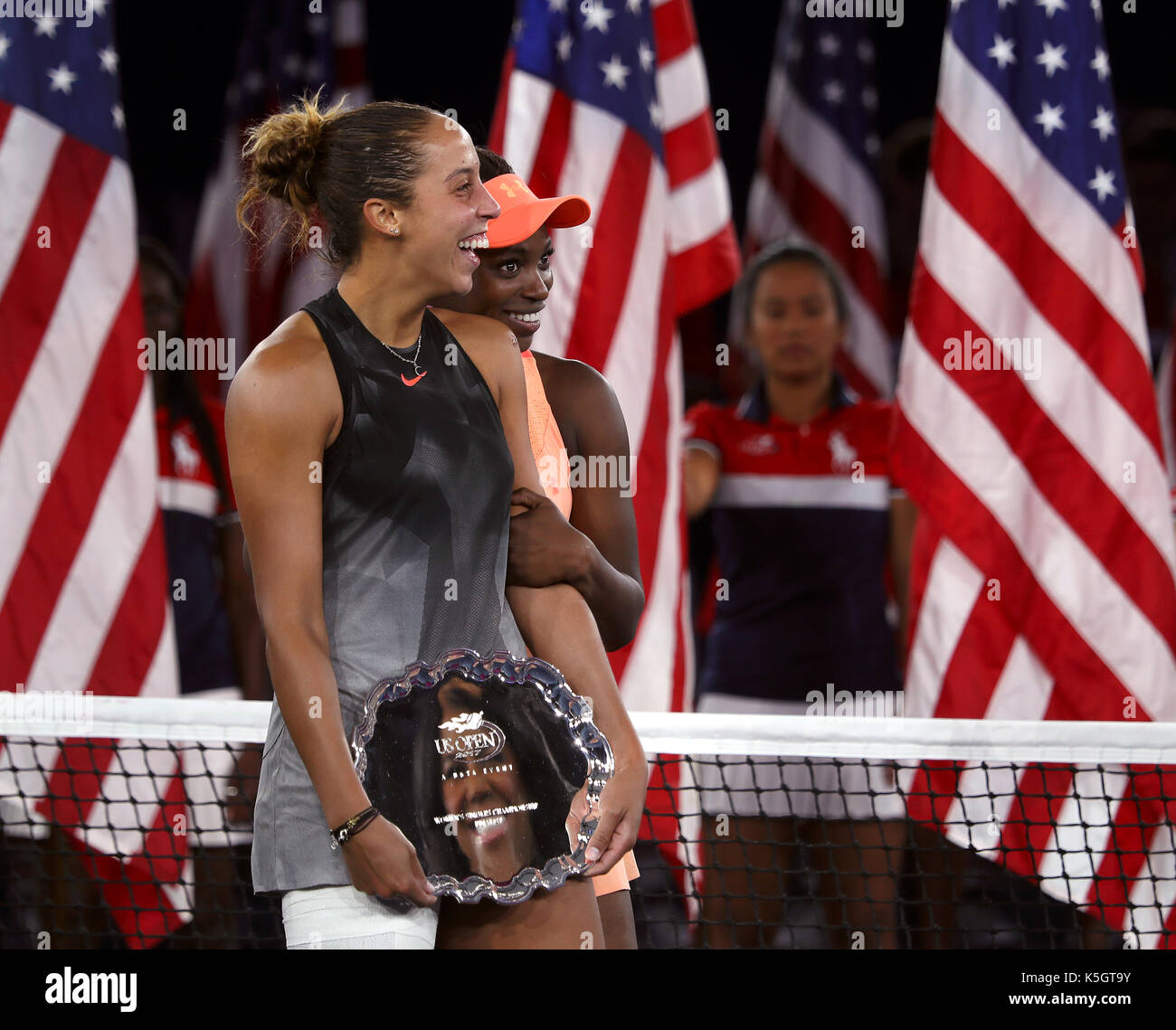 New York, United States. 09th Sep, 2017. US Open Tennis: New York, 9 September, 2017 - Sloane Stephens of the United - Stock Image