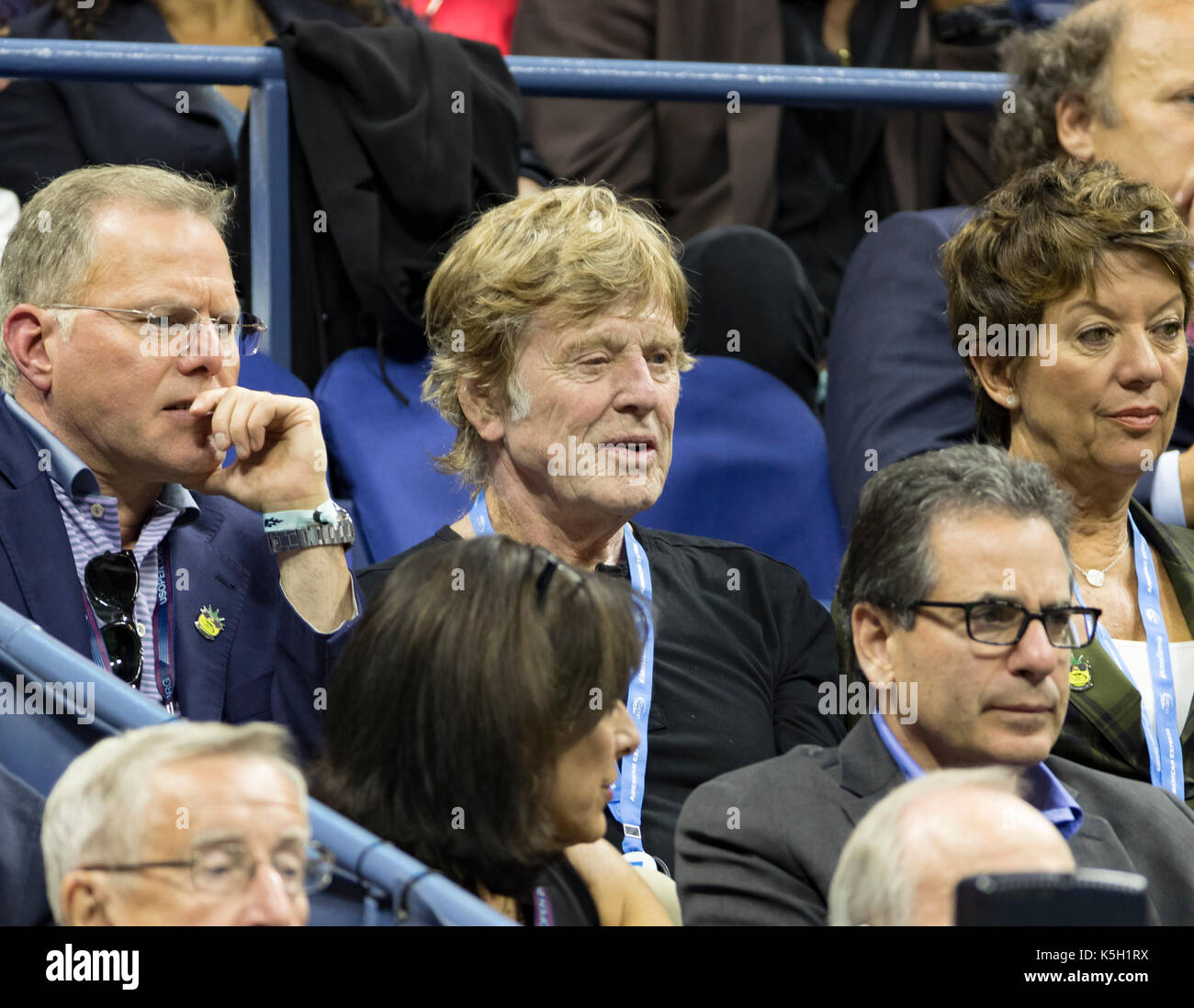 New York, United States. 08th Sep, 2017. Robert Redford attends day 12 of US Open Championships at Billie Jean King National Tennis Center Credit: Lev Radin/Pacific Press/Alamy Live News - Stock Image