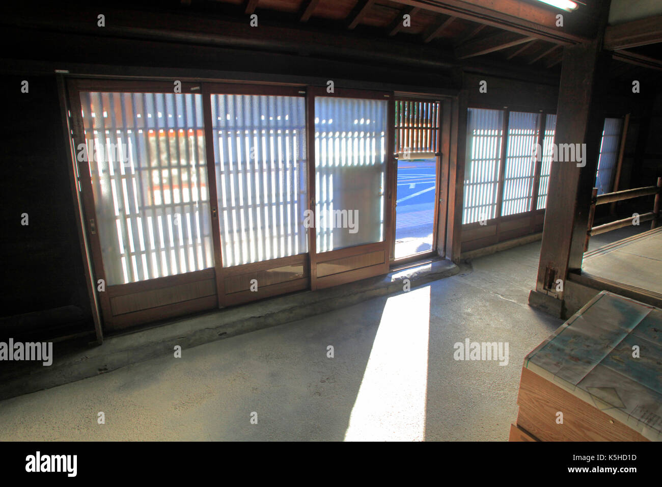 Edo Period Merchant House on the Ome Kaido Avenue in Ome city Western Tokyo Japan - Stock Image