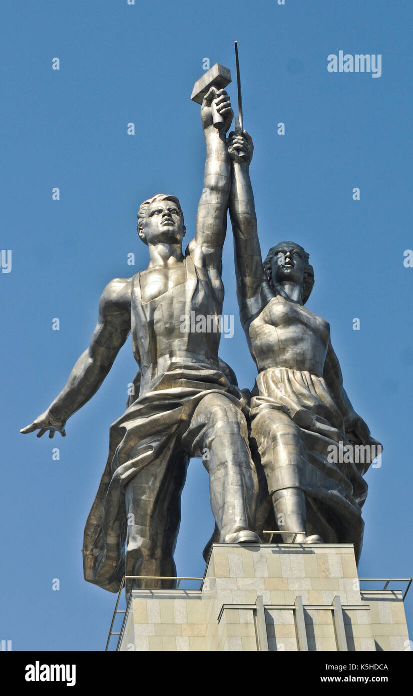 Worker and Kolkhoz Woman, Moscow, Russia - Stock Image
