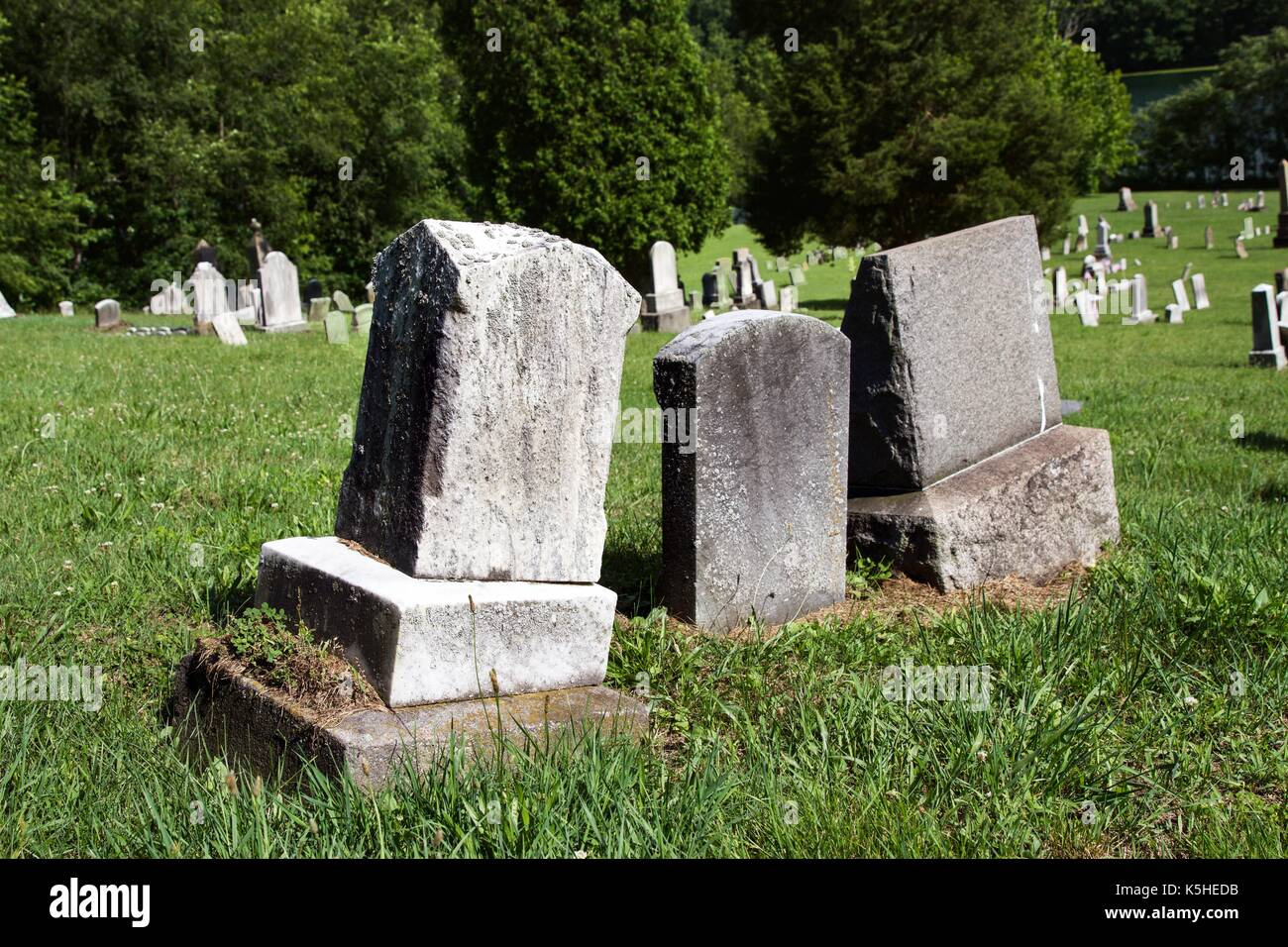 Old headstone - Stock Image