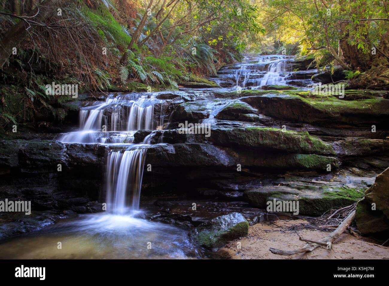 Leura Cascades, Blue Mountains National Park Stock Photo