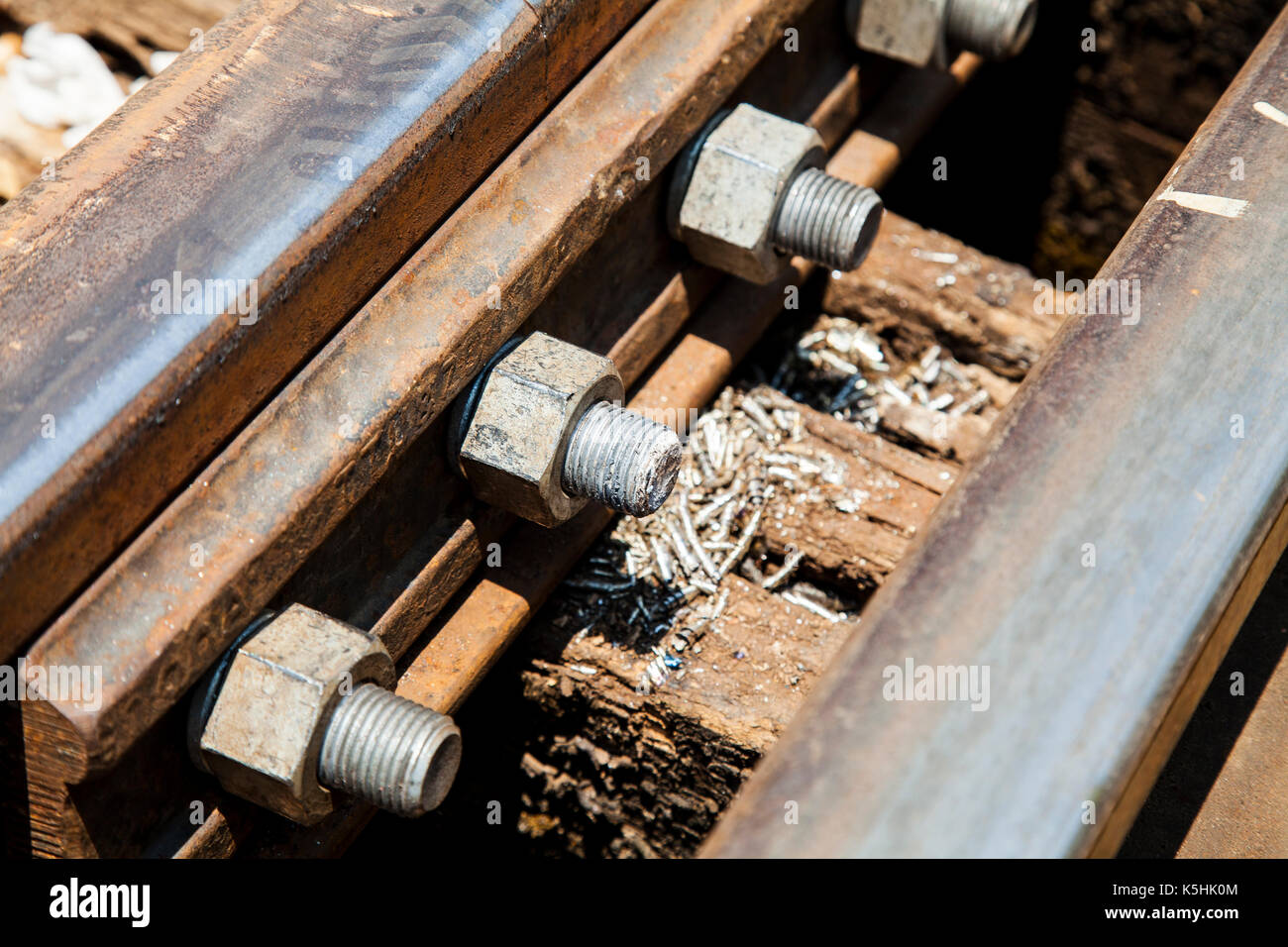 The death railway bridge repairs.Tham krasae Kanchanaburi Thailand. - Stock Image