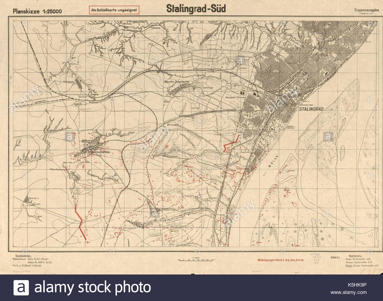 Map Of Battle Of Stalingrad Stock Photos & Map Of Battle Of ...