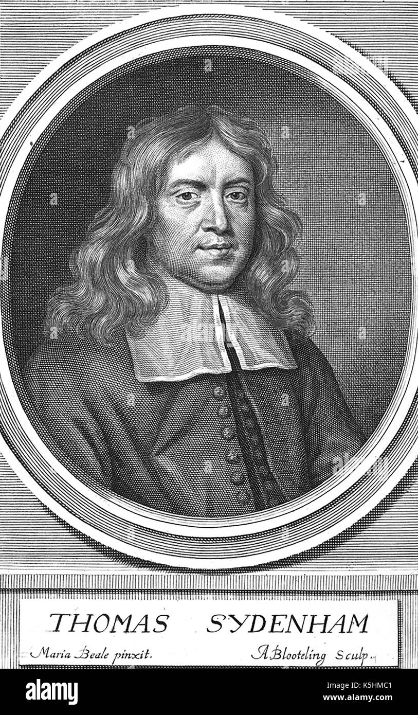 THOMAS SYDENHAM (1624-1689) English physician - Stock Image