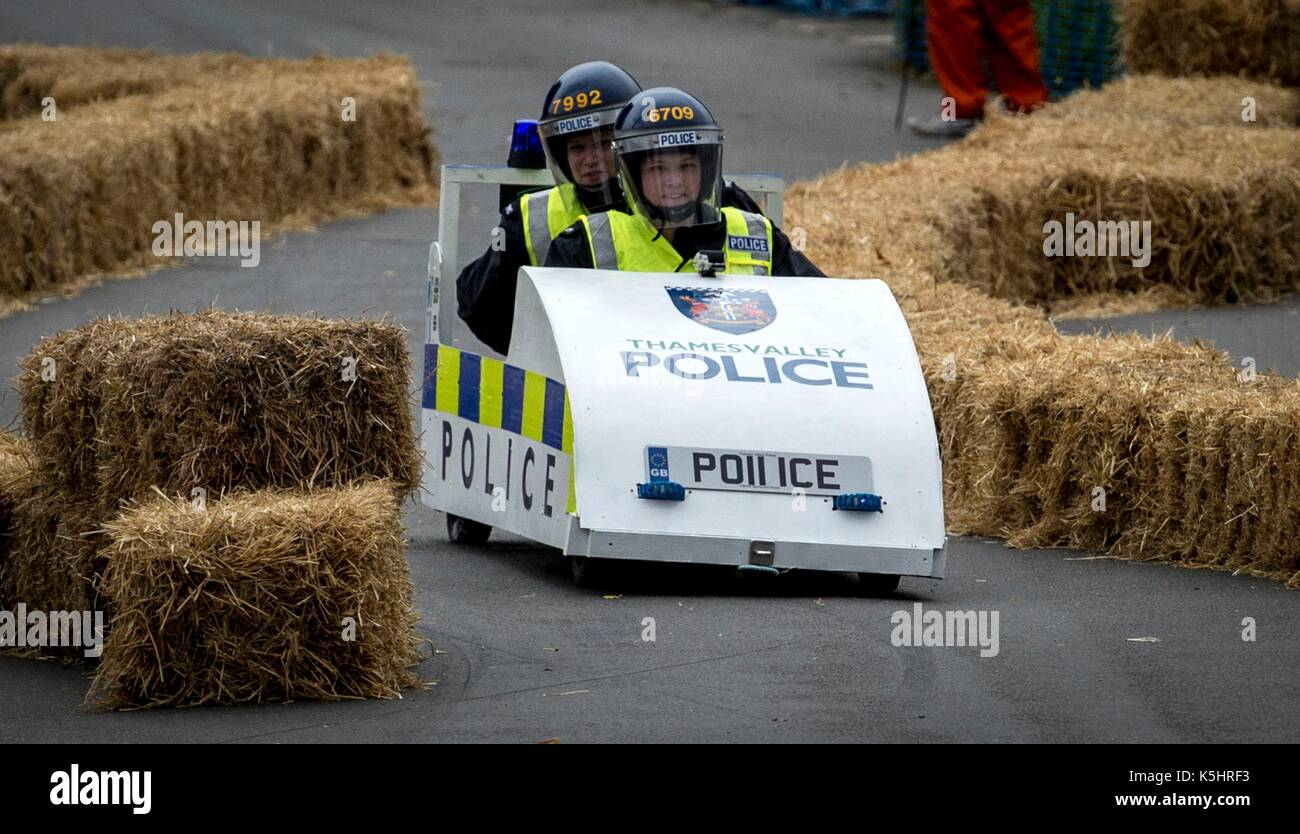 Thames Valley Police Officers Take Part During The Gravity Grand