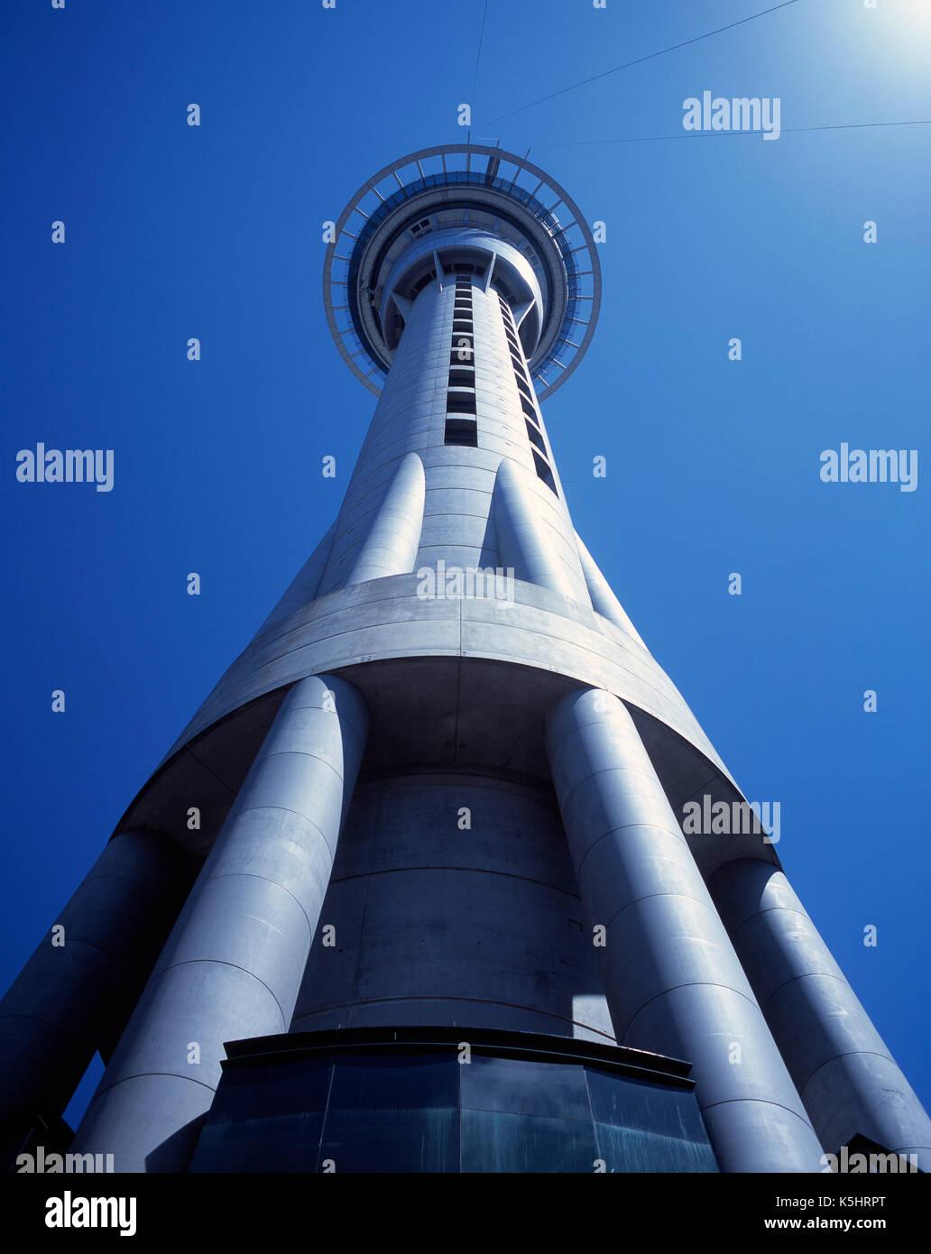 New Zealand. Auckland. Sky Tower. Stock Photo