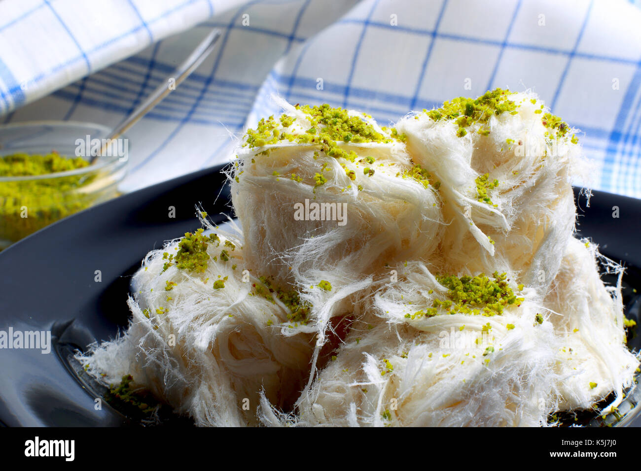 Pismaniye, a candy whose texture somewhat resembles that of cotton candy - Stock Image