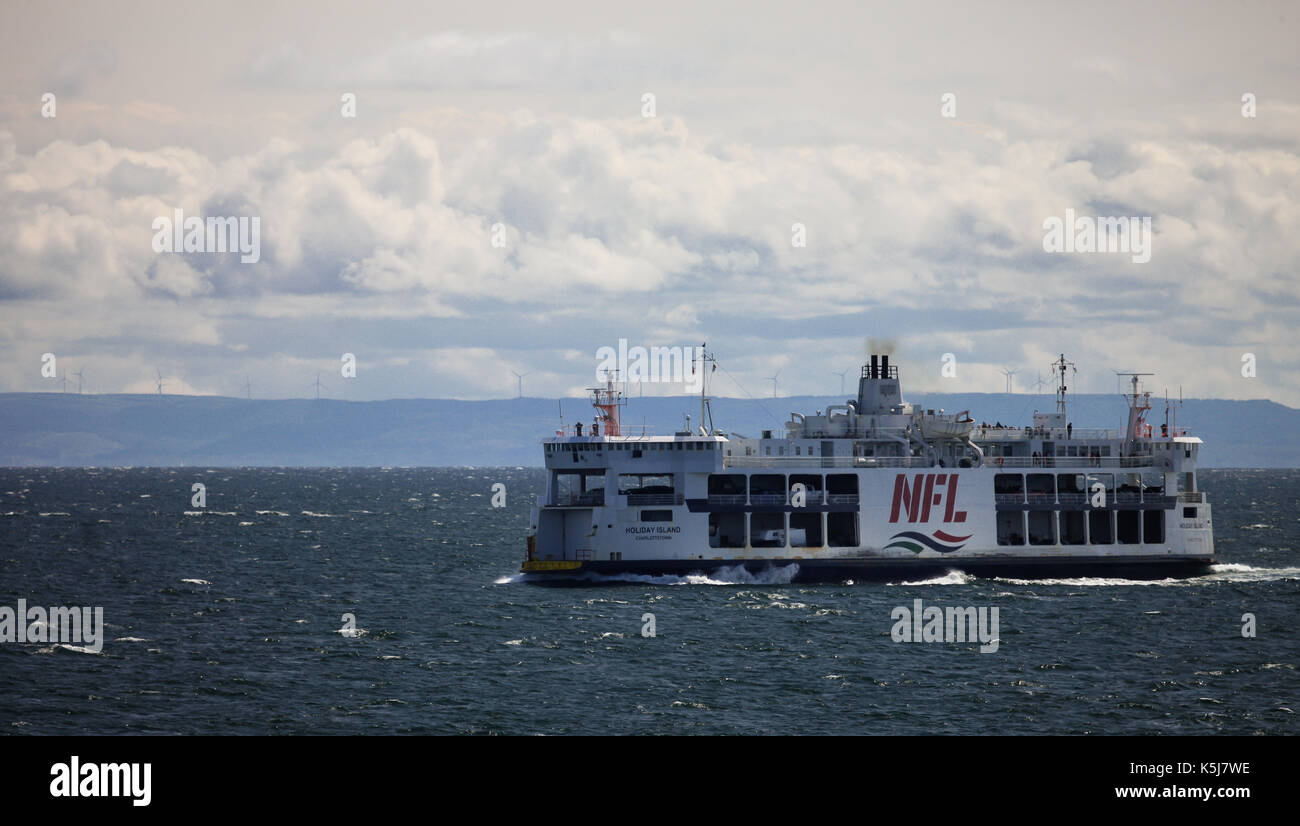 The MV Holiday Island of the Northumberland Ferries Limited is seen crossing the Northumberland Straight between Stock Photo