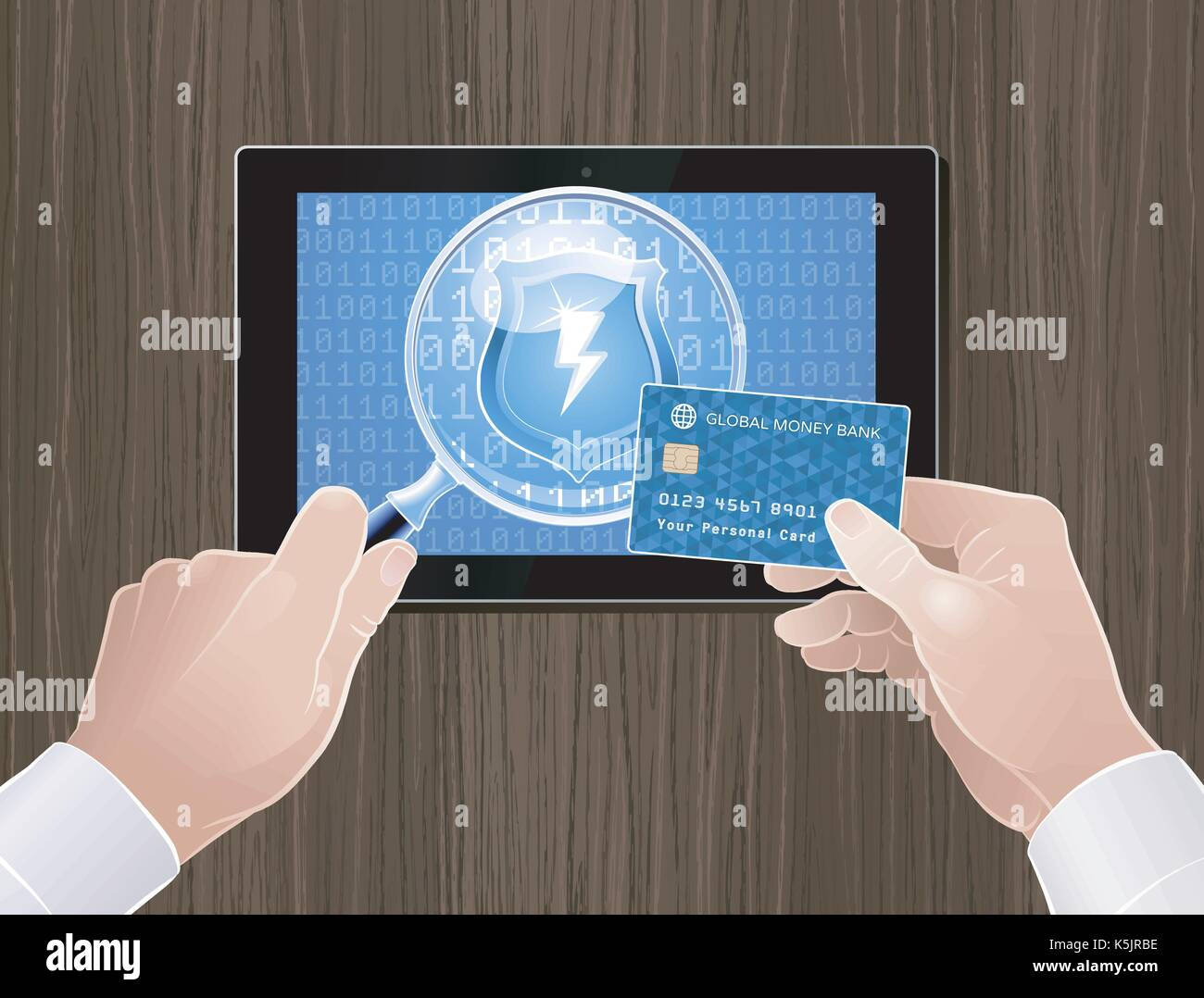 Safety/Secure Online Payments - Stock Vector