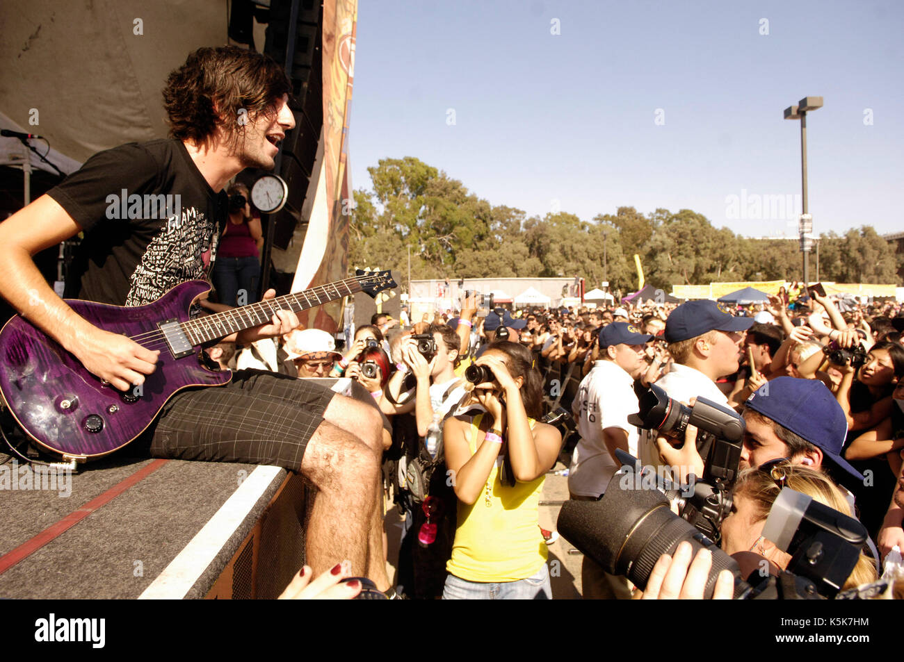 All Time Low performs 2009 Vans Warped Tour final tour day Home Depot Center Carson. - Stock Image