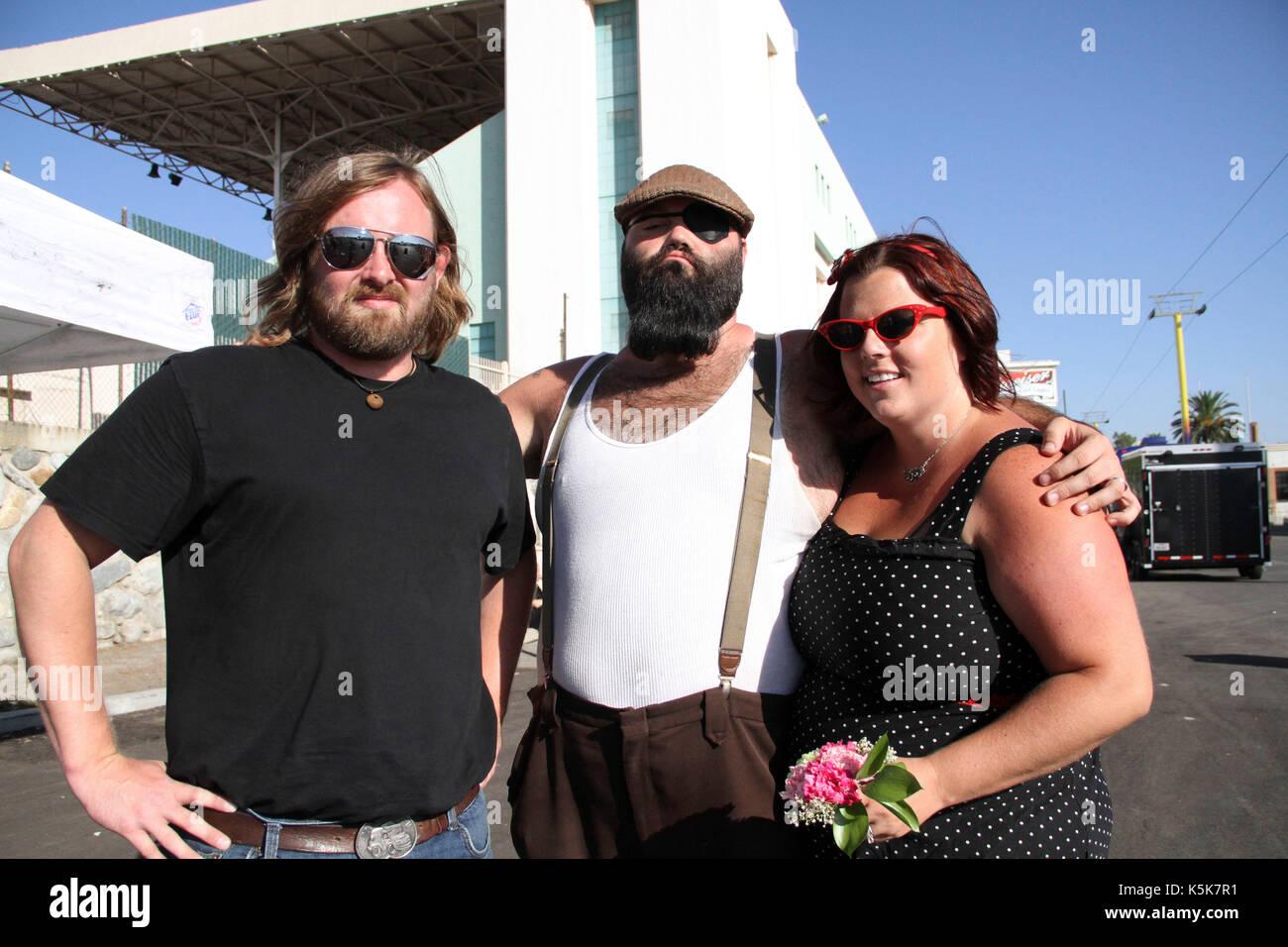 The Reverend Peyton's Big Damn Band backstage portrait 2010 Vans Warped Tour Fairplex Pomona,Ca. - Stock Image