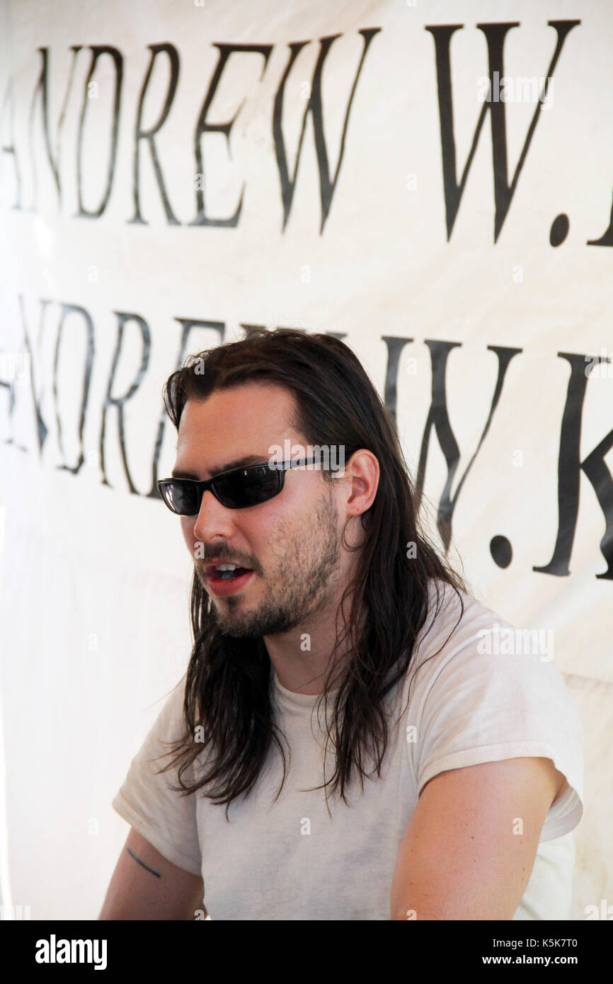 Andrew W.K. 2010 Vans Warped Tour Fairplex Pomona,Ca. - Stock Image