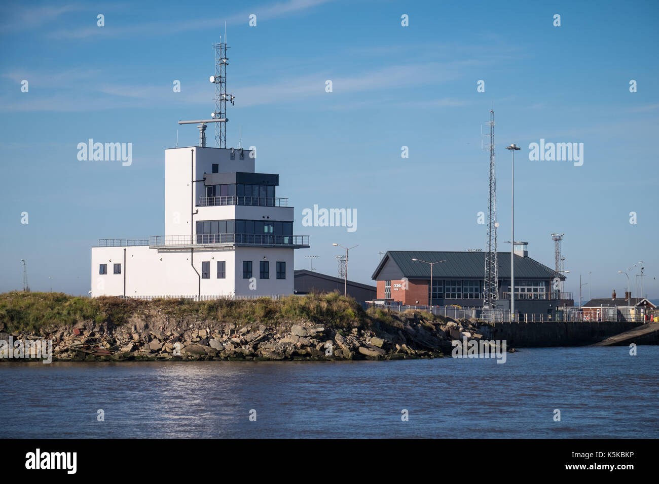 The new ABP Marine Control Centre located between Royal Dock and Fish Dock at the north end of the port estate in Grimsby - Stock Image