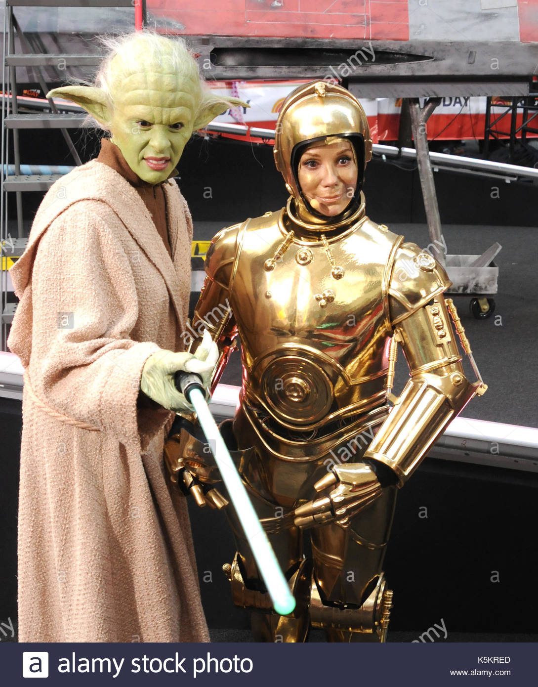 Hoda Kotb Yoda Kathie Lee Gifford NBC Today Show Star Wars Halloween Spectacular In NYC Rockefeller Center