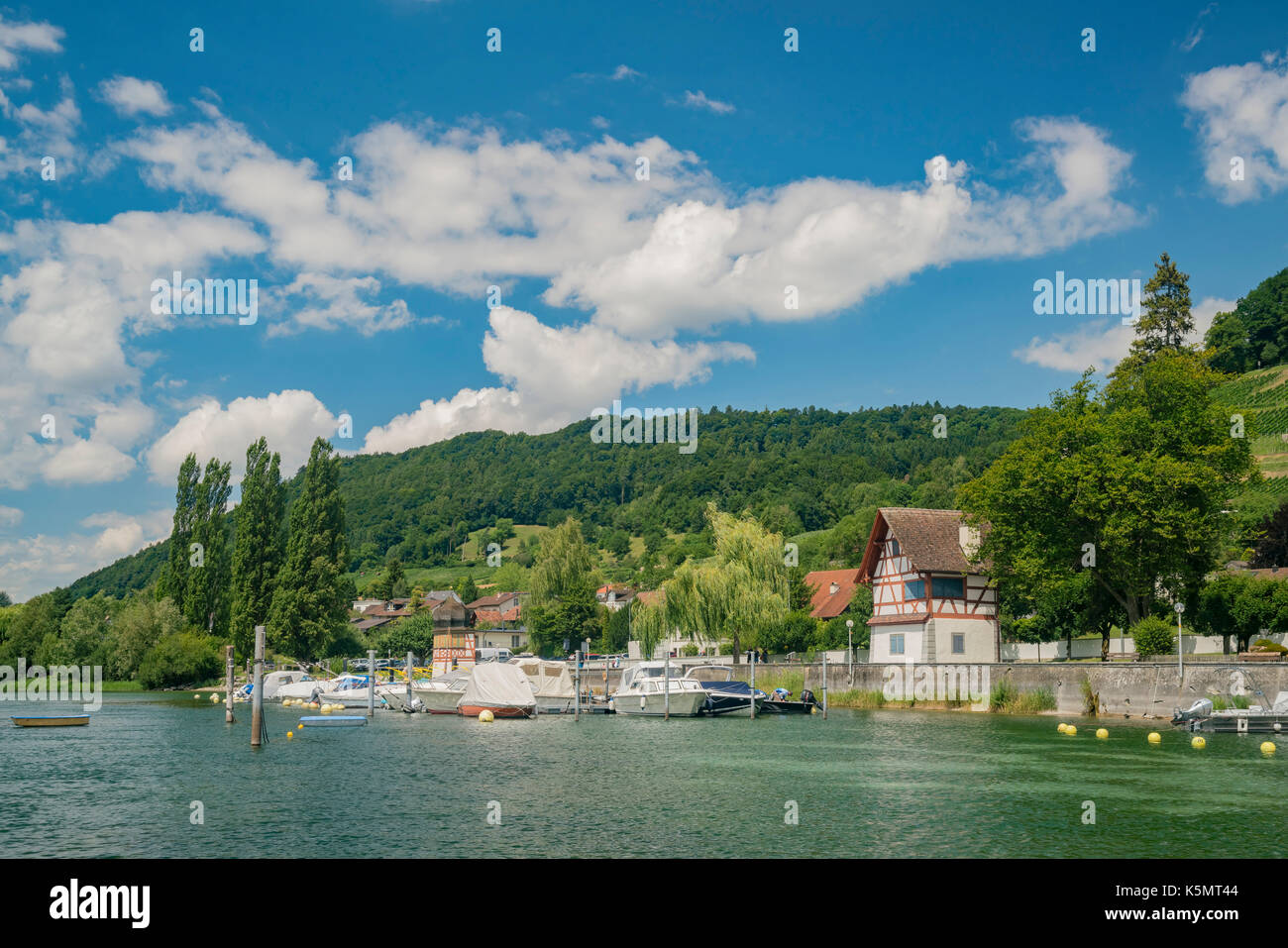 The beautiful Stein am Rhein is a historic town and a municipality in the canton of Schaffhausen in Switzerland Stock Photo