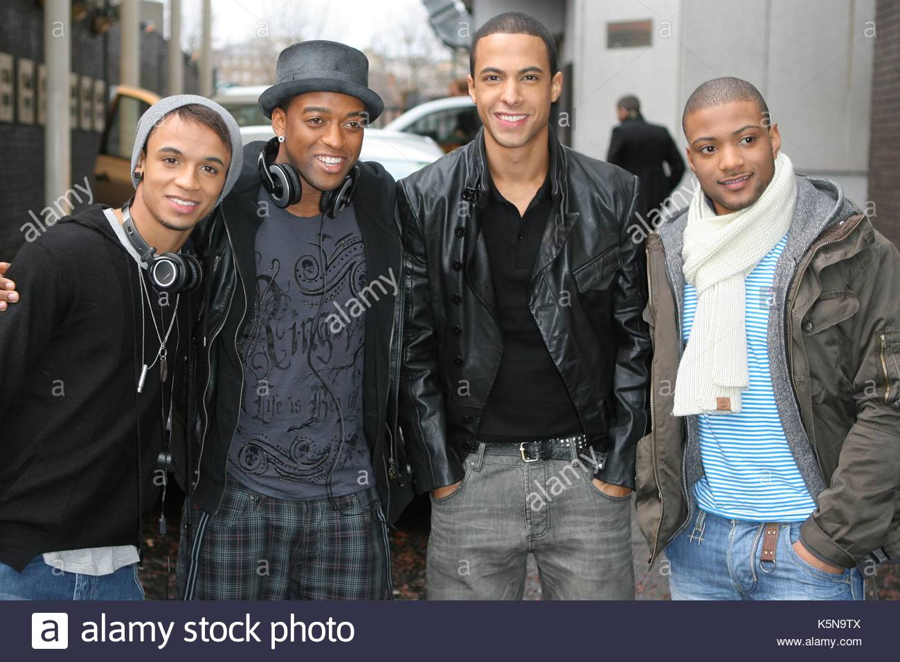 58eff45ec Boy Band JLS leaving GMTV Studios after appearing on the show to celebrate  Lorraine Kelly's 50th birthday. The boys arrived very early at the studio in  ...
