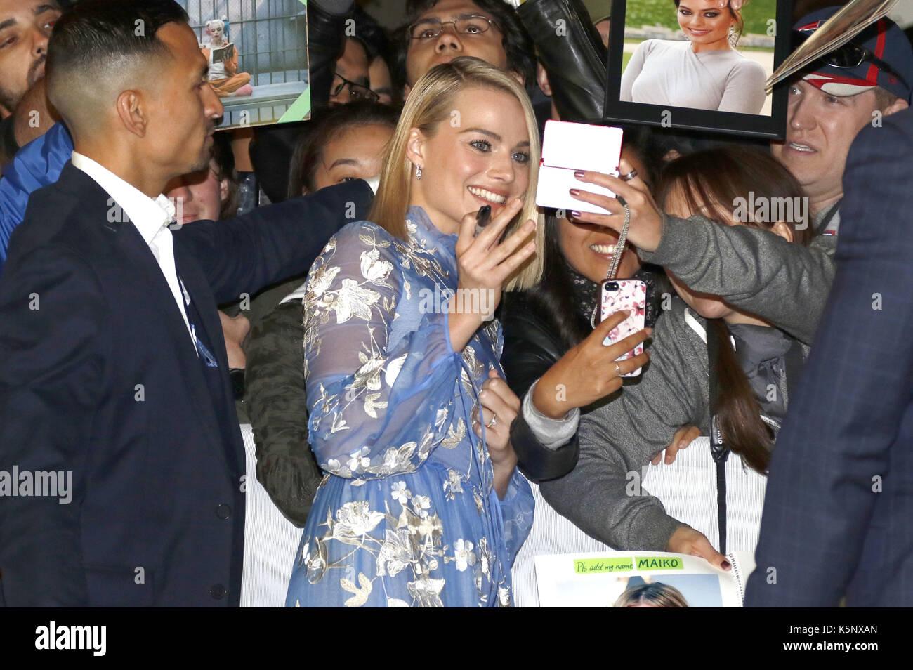 Margot Robbie attending the 'I, Tonya' premiere during the 42nd Toronto International Film Festival at Princess Stock Photo