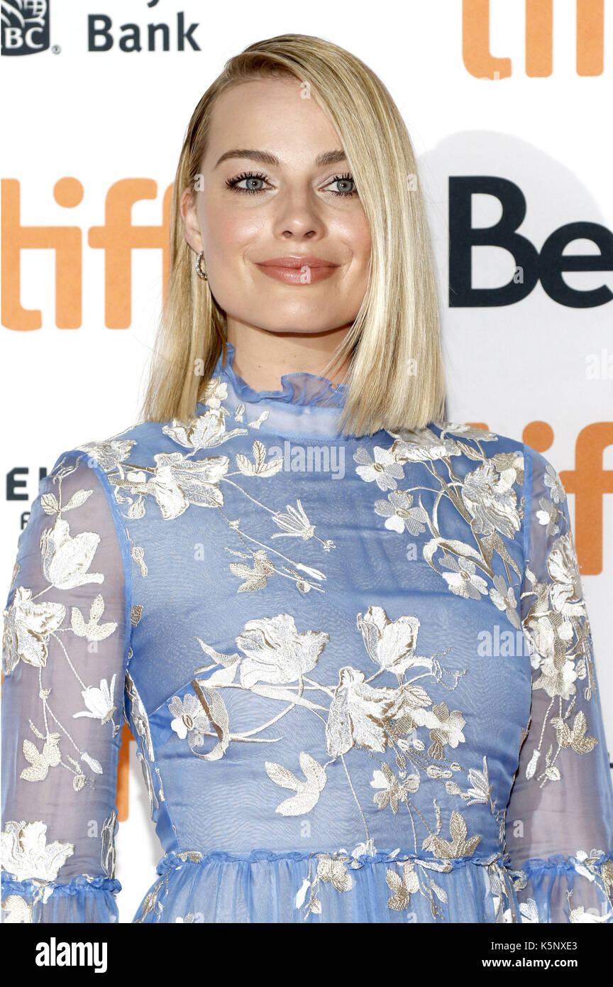 Margot Robbie attending the 'I, Tonya' premiere during the 42nd Toronto International Film Festival at Princess Of Wales Theatre on September 08, 2017 in Toronto, Canada | usage worldwide - Stock Image