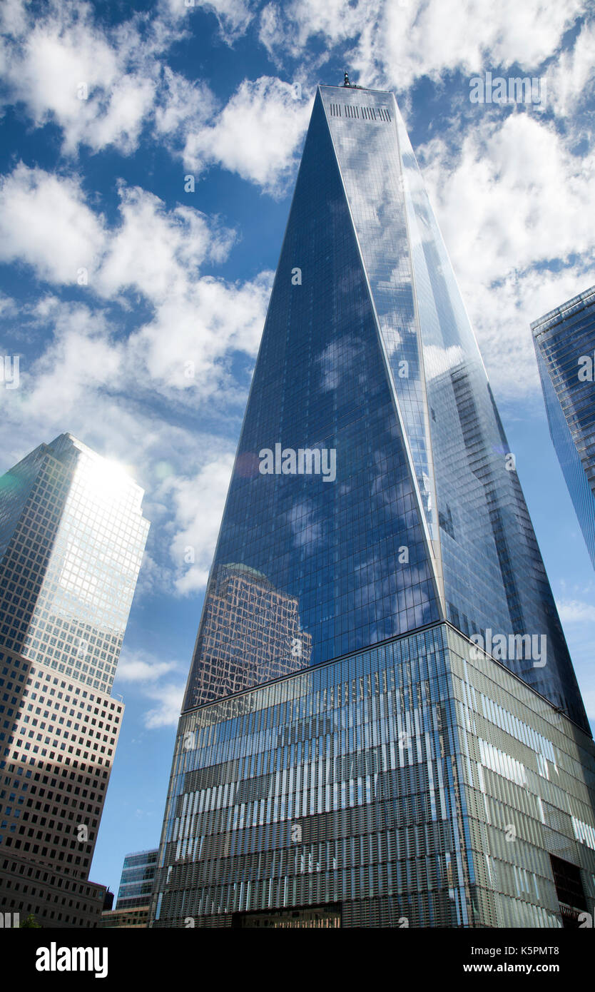 One World Trade Center on site of Twin Towers in New York - USA - Stock Image