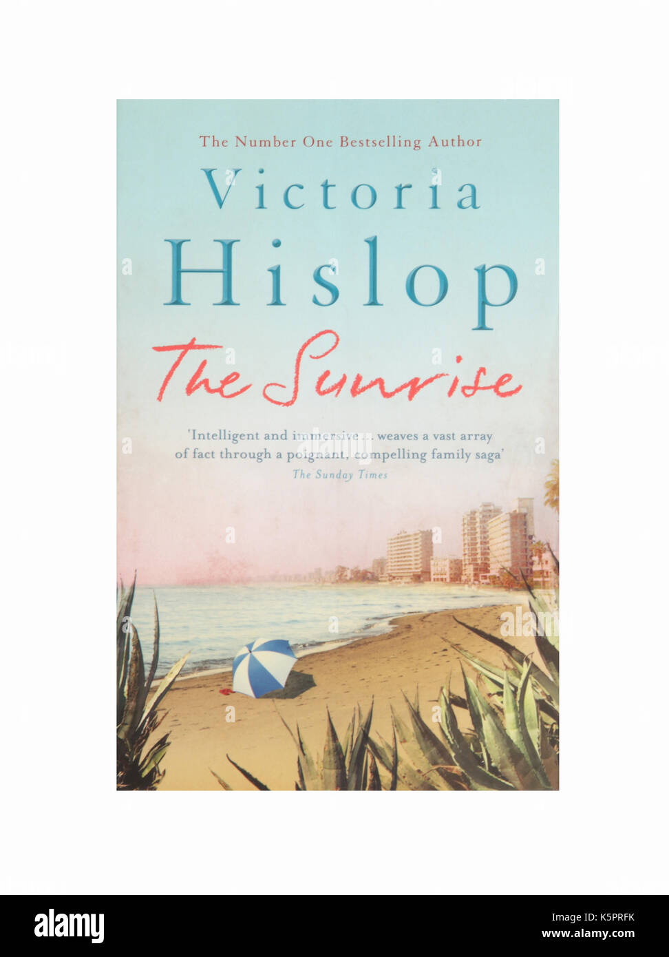 The book The Sunrise by Victoria Hislop - Stock Image