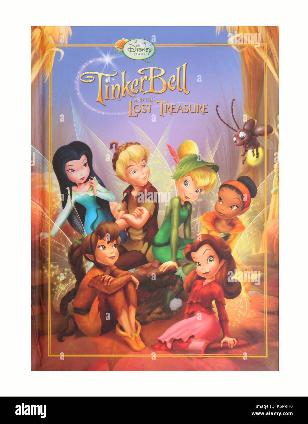 The children's book, Tinker Bell and the Lost Treasure by Disney - Stock Image