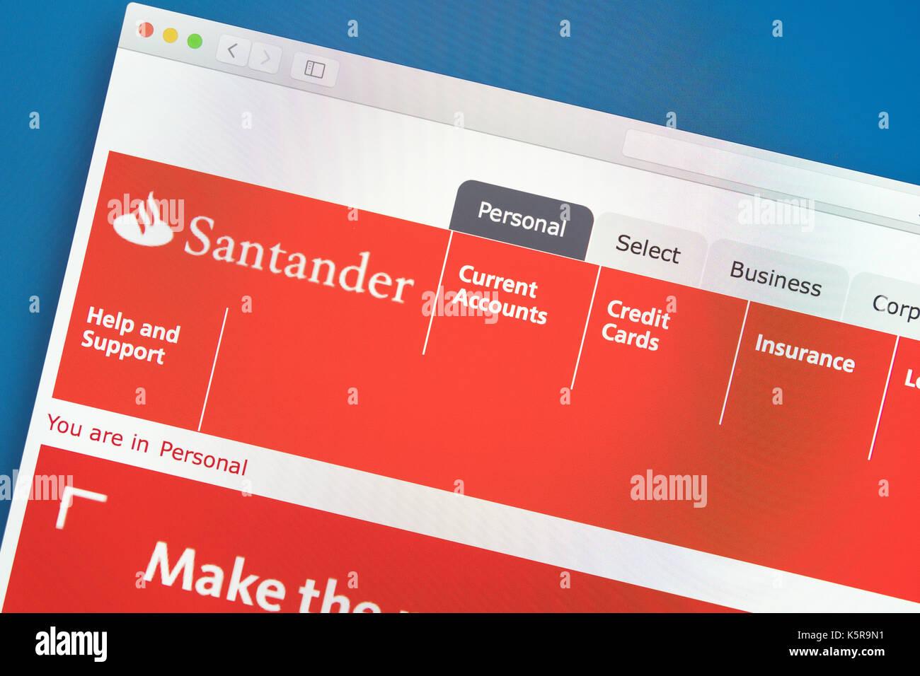 Santander bank website  Santander logo Stock Photo: 158479133 - Alamy