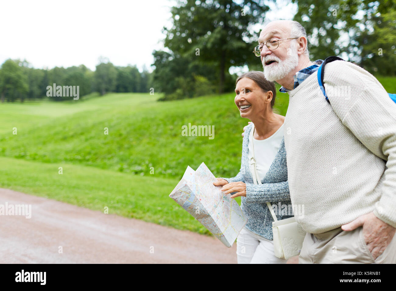 Amazed seniors Stock Photo
