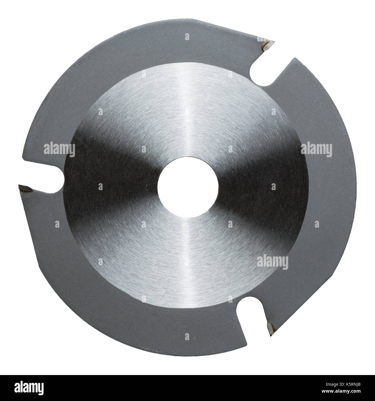 Angle grinder wood cutter disk for rough shaping. - Stock Image