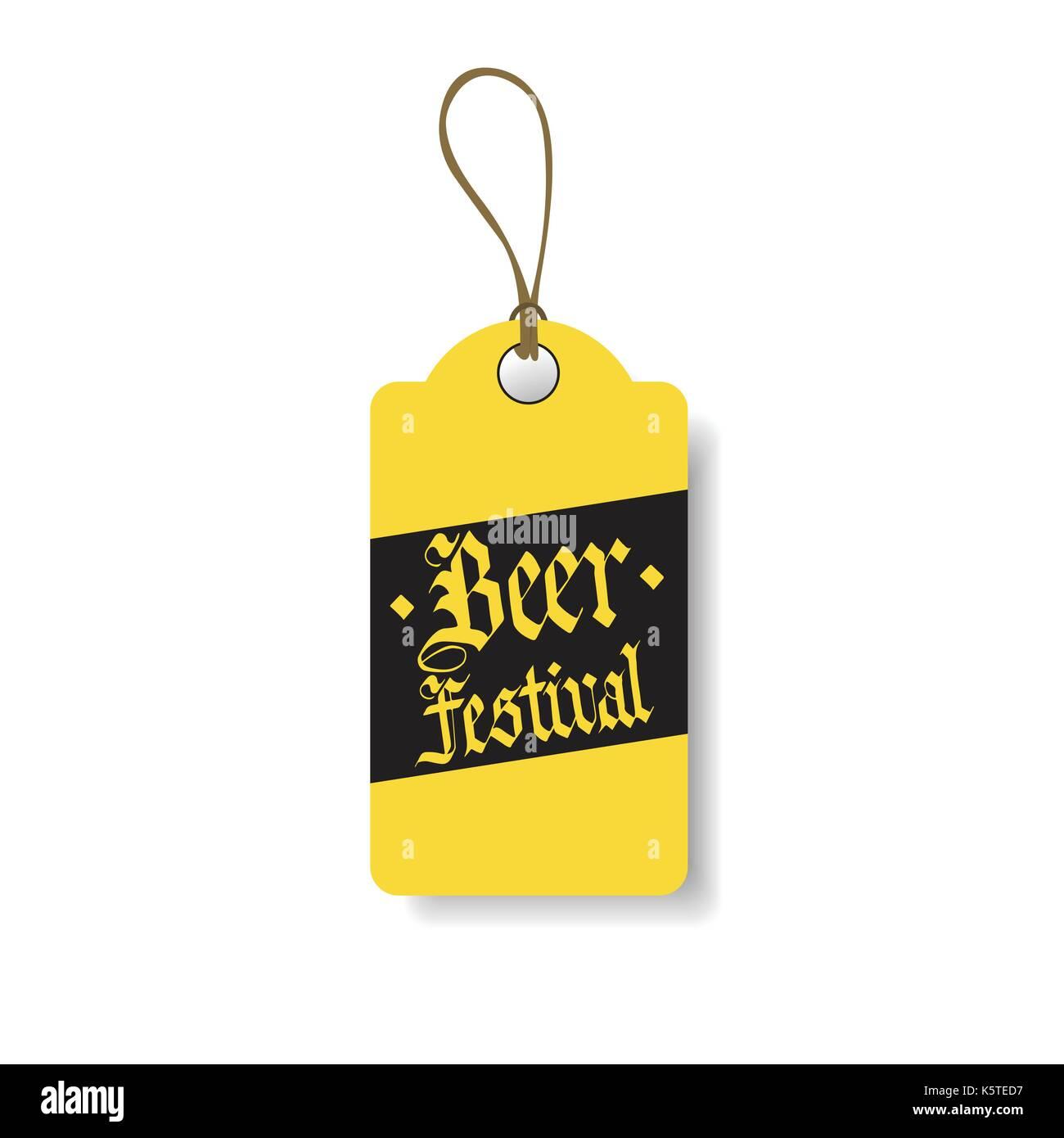 Oktoberfest Tag German Beer Festival Flyer Design Icon - Stock Image